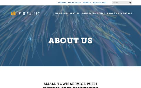 Screenshot of About Page twinvalley.net - About Us — Twin Valley - captured Dec. 15, 2018