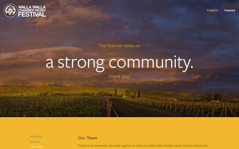 Screenshot of Team Page wwcmf.org - Our Team — Walla Walla Chamber Music Festival - captured March 10, 2016