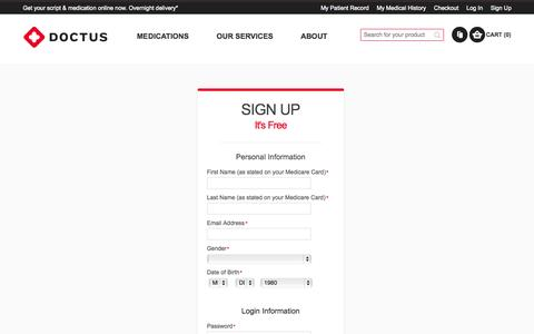 Screenshot of Signup Page doctus.com.au - Create New Customer Account  | Doctus - captured Oct. 5, 2014