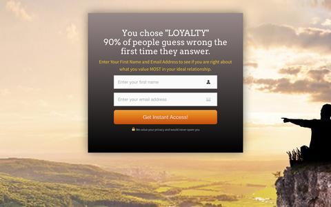 Screenshot of Landing Page personallifemedia.com - Single Man - Loyalty | Personal Life Media - captured Aug. 18, 2016