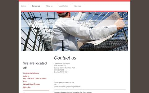 Screenshot of Contact Page commercialsolutions.biz - Commercial Solutions - Contact Us - captured July 14, 2016