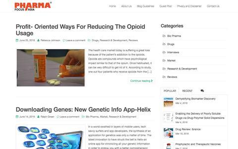 Screenshot of Blog pharmafocusasia.com - Pharma Focus Asia Blog - captured July 13, 2016