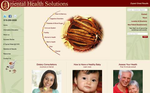 Screenshot of About Page orientalhealthsolutions.com - Oriental Health Solutions | Durham, Raleigh, Cary, Morrisville, Chapel Hill, NC - captured June 18, 2017