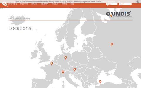 Screenshot of Locations Page qundis.com - Locations - QUNDIS - captured Oct. 25, 2016