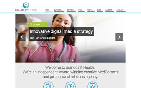 Digital Healthcare Content Agency, London, Singapore. Brandcast Health