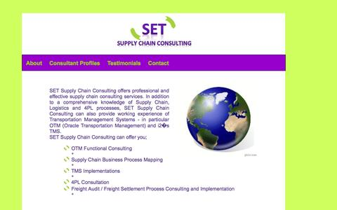 Screenshot of Home Page set-scc.com - OTM Consultancy - SET-SCC - captured Oct. 3, 2014