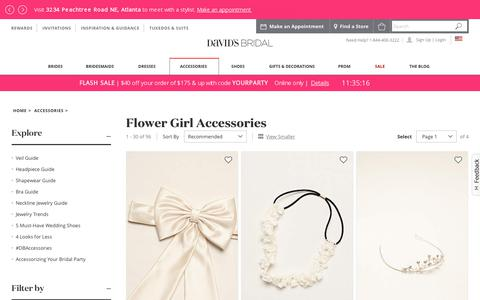 Flower Girl Accessories: Shoes & Baskets | David's Bridal