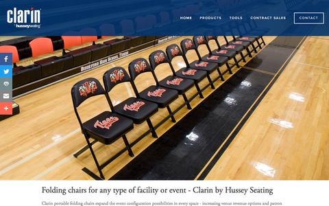 Screenshot of Home Page clarinseating.com - Clarin Seating - captured July 18, 2018