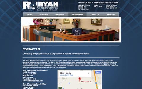 Screenshot of Contact Page ryangrp.com - Ryan & Associates - Contact Us - captured Nov. 4, 2014