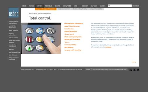 Screenshot of Services Page osbee.com - Services | Osbee - captured Oct. 7, 2014