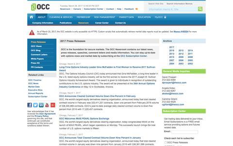 OCC: Company News