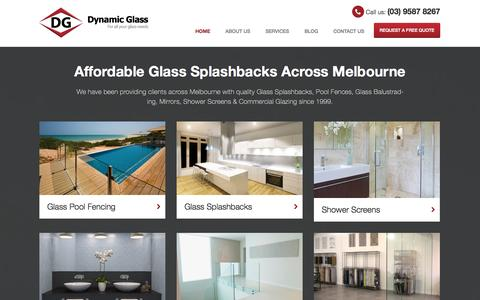 Screenshot of Home Page Site Map Page dynamicglass.com.au - Quality Kitchen Glass Splashbacks Melbourne | Dynamic Glass - captured Sept. 30, 2014