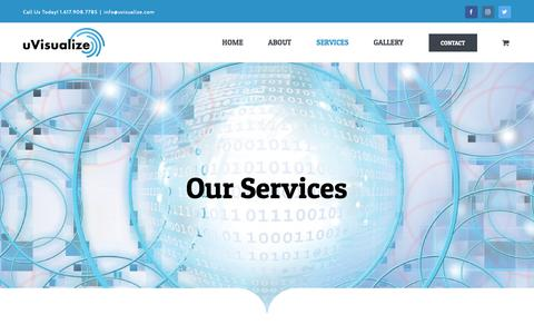 Screenshot of Services Page uvisualize.com - Services - uVisualize - captured Oct. 19, 2018