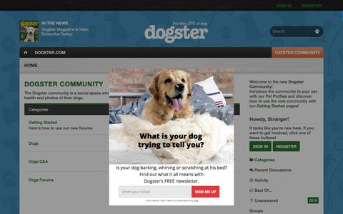 Screenshot of Support Page dogster.com - Dogster Community - captured June 24, 2018