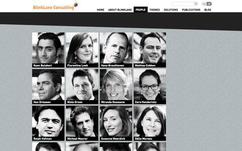 Screenshot of Team Page blinklane.com - People » BlinkLane - captured Oct. 5, 2014