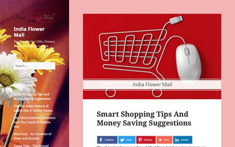 Screenshot of Blog indiaflowermall.com - India Flower Mall - Blogs on Online Gifts, Flowers and Cake Delivey in India - captured Nov. 6, 2018