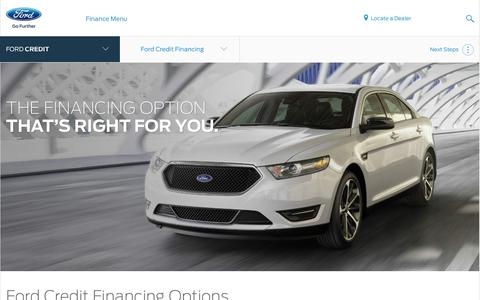 Ford Car, Truck and SUV Financing Options | Official Site of Ford Credit