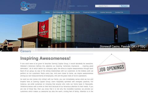 Screenshot of Jobs Page gamingcapitalgroup.com - Careers | Gaming Capital Group - captured Sept. 29, 2014