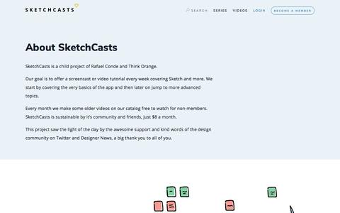 Screenshot of About Page sketchcasts.net - About SketchCasts — SketchCasts - captured July 15, 2018