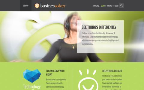 Screenshot of Home Page businessolver.com - Home | Businessolver - captured Sept. 19, 2014