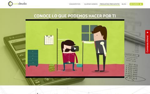 Screenshot of FAQ Page curadeuda.com - Liquida tus Deudas con Descuento y Sanea tu Buro de Crédito | Cura Deuda - captured July 24, 2018