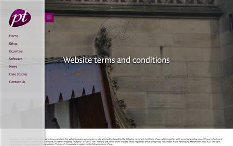 Screenshot of Terms Page property-tectonics.co.uk - Property Tectonics -Terms and Conditions - captured Sept. 30, 2014