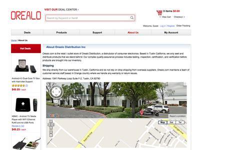 Screenshot of About Page orealo.com - Orealo Distribution Inc. About Orealo Distribution Inc Orealo Distribution Inc. - captured Oct. 7, 2014