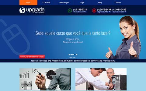 Screenshot of Home Page cursosupgrade.com - Upgrade Informática | (41) 3031-3429 - captured Dec. 18, 2016