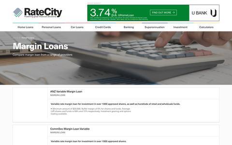 Margin Loans Comparison | Compare Loans | RateCity