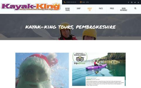 Screenshot of Blog kayak-king.com - Kayaking blog, Events, News and general ramblings about kayak-King and Kayaking. - captured Sept. 20, 2018