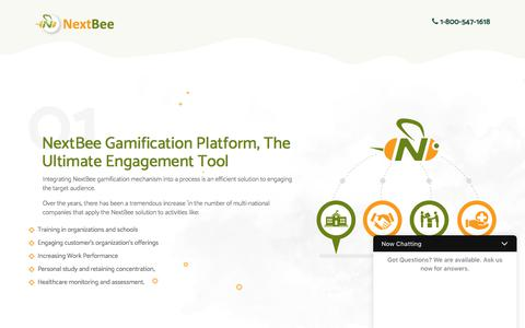 Screenshot of Landing Page nextbee.com - Referral Rewards, Loyalty Programs, and Social Media Advocacy Solutions for Your Customer Acquisition and Retention Efforts - captured July 3, 2017