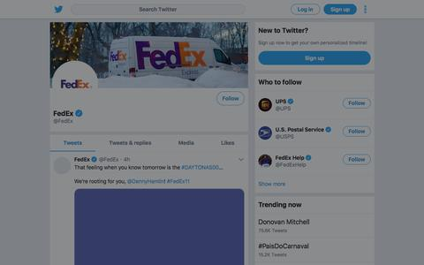 Tweets by FedEx (@FedEx) – Twitter