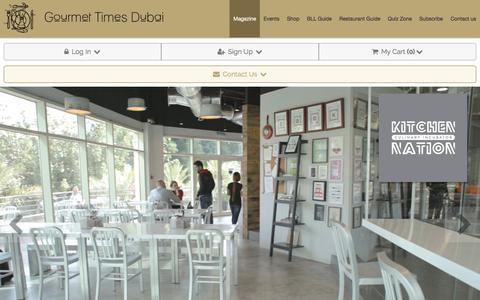 Screenshot of Home Page gourmet-times-dubai.com - Gourmet Times Dubai | Magazine - captured March 22, 2017