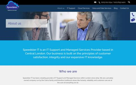 Screenshot of About Page speedster-it.com - About us   IT Support Central London - captured Oct. 23, 2017