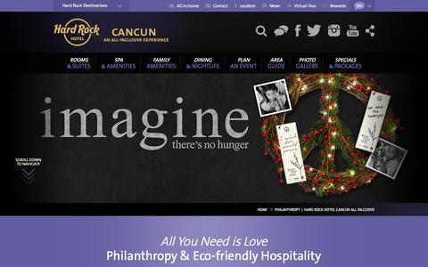 Philanthropy | Hard Rock Hotel Cancun All Inlcusive