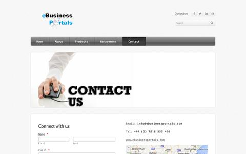 Screenshot of Privacy Page Contact Page ebusinessportals.com - Contact - e-Business Portals - captured Oct. 27, 2014