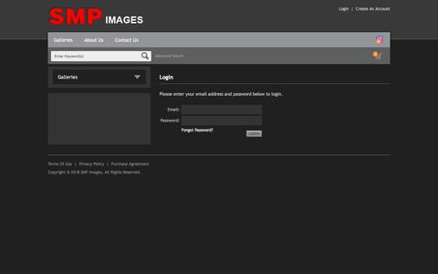 Screenshot of Login Page smpimages.com - Login – SMP Images - captured Feb. 18, 2018