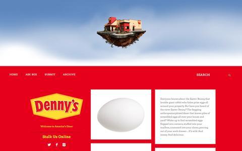 Screenshot of Blog dennys.com - Denny's Diner - captured April 17, 2017
