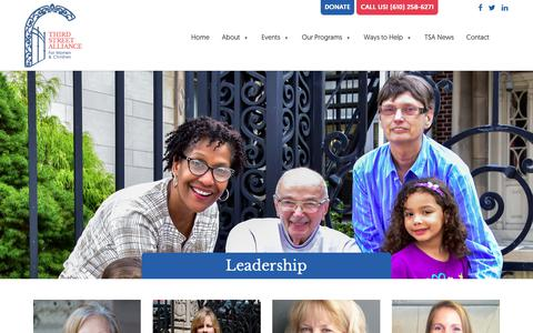 Screenshot of Team Page thirdstreetalliance.org - Leadership, Board of Directors - Third Street Alliance - Easton, PA - captured Oct. 21, 2018