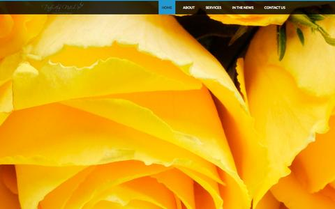 Screenshot of Home Page perfectlynoted.com - Perfectly Noted - Home - captured Sept. 29, 2014