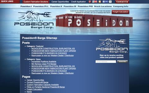 Screenshot of Site Map Page poseidonbarge.com - Poseidon Barge Sitemap | Poseidon Barge - captured Jan. 30, 2016