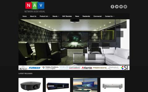 Screenshot of Home Page networkav.com.au - Network Audio Visual - Home Theatre, Commercial Wholesaler - Network Audio VisualNetwork Audio Visual | Audio Visual Wholesaler - captured Oct. 6, 2014