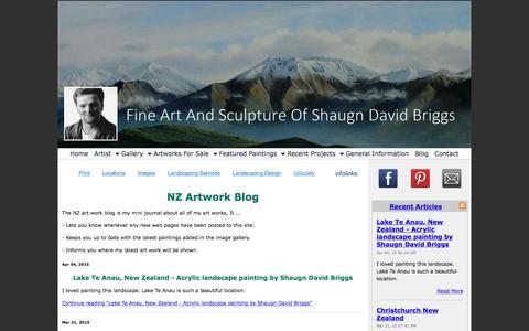 Screenshot of Blog nz-art-work.com - NZ Artwork Blog - captured June 25, 2016