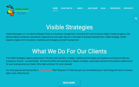Screenshot of Home Page visible-strategies.com - Visible Strategies | Leading digital marketing agency, business consulting firm. National headquarters Atlanta GA - captured Dec. 15, 2016