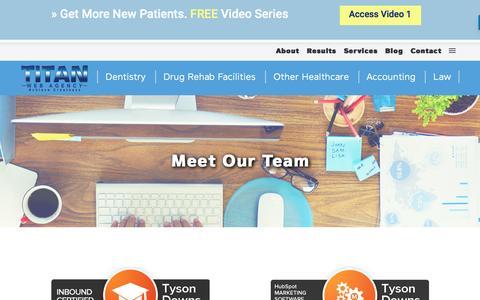 Screenshot of Team Page titanwebagency.com - Meet Our Team - Titan Web Agency - captured Nov. 7, 2016