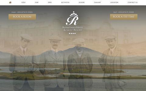Screenshot of Signup Page rosapenna.ie captured Nov. 6, 2017
