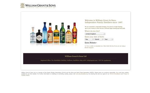 Screenshot of Locations Page williamgrant.com - William Grant & Sons Distillers Ltd. - captured Sept. 22, 2014