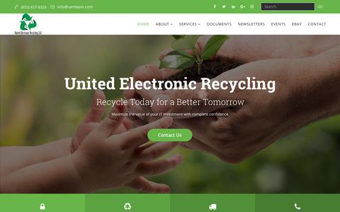 Screenshot of Home Page unitedelectronicrecycling.com - Professional Electronic Recycler - Home - United Electronic Recycling - captured Oct. 20, 2018