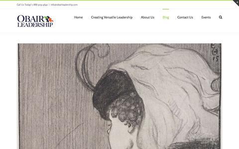 Screenshot of Blog obairleadership.com - Blog  | Obair Leadership - captured Aug. 16, 2015