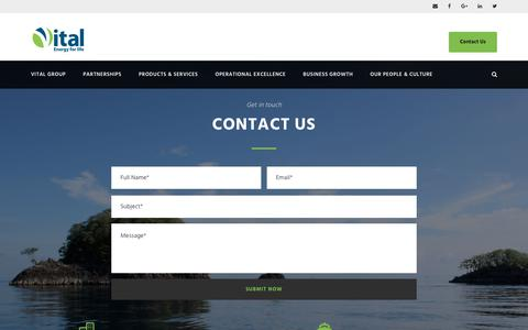 Screenshot of Contact Page vitalenergy.fm - Contact Us | The Vital Group - Energy Supplier FSM Micronesia - captured Nov. 15, 2018